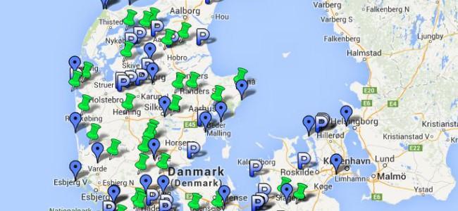 Gratis parkering i Danmark